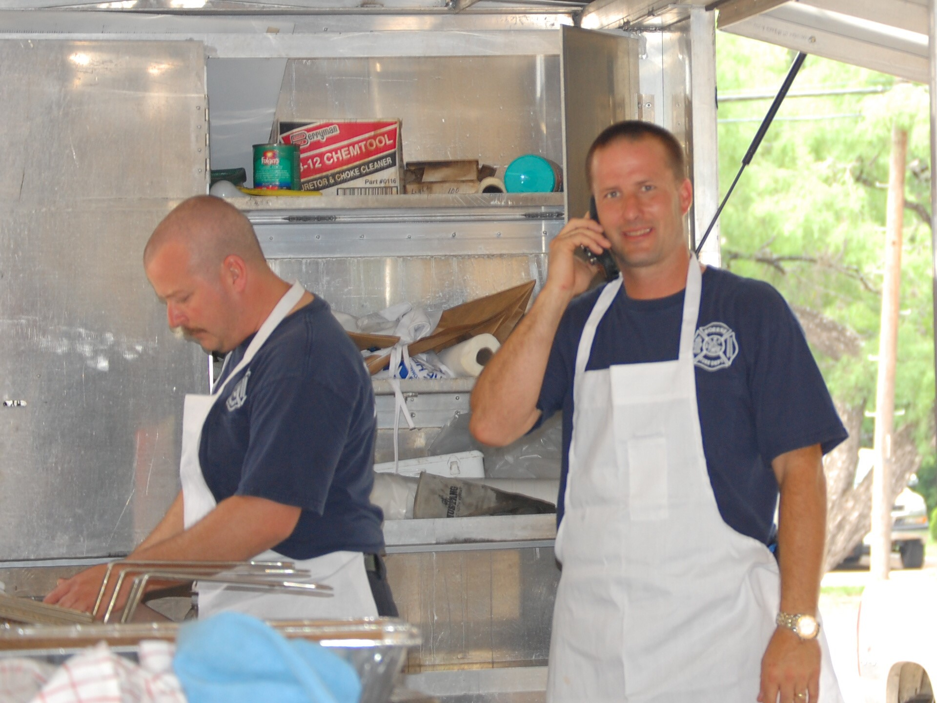 Photo of frying fish at the Dinner and Dance fundraiser